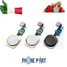 TASTO HOME IPHONE 6 NERO ORO BIANCO SILVER BUTTON FLAT FLEX APPLE 4,7