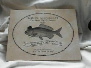 RIVER TAY PERTHSHIRE ~ NOVELTY STRETCHED CANVAS WALL ART PRINT ~ SALMON FISHING