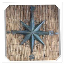 Bakers Handcrafted Metal Wall Compass *Wall Art* Indoor/Outdoor* Stunning