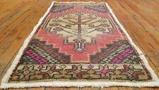 Beautiful Vintage 1950-1960's Natural Dye Wool Pile,Tribal Rug 1'7'' x3'