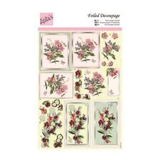 ANITAS FOILED DECOUPAGE FOR CARDS OR CRAFTS - SPRAY OF FLOWERS
