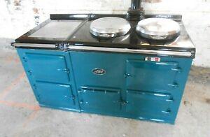Green Oil Fired 4 Oven Aga Cooker Range Model OEB