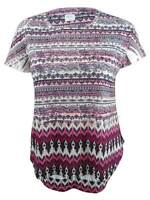 Style & Co. Women's Plus Size Mixed-Print Embellished Top