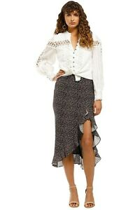 Stevie May Formation Skirt in Minuit Floral Size 8 Midi Length