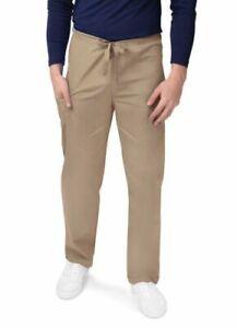 Sivvan Men Woman Tapered Leg Drawstring Medical Scrub Uniform Bottoms Pants