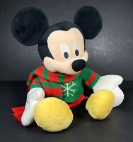 Disney Store Authentic 2009 Mickey Mouse Christmas Holiday Plush Soft Toy Winter