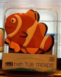NEW - AquaTouch Clown Fish Non-Slip Applique Tub Treads Set of 5