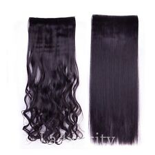1PCS Real Thick Clip In Hair Extensions Full Head Human Brown Blonde Hair Piece