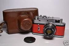 ZORKI 4 Red body Soviet/Russian 35mm Rangefinder Camera, Industar-61 l/d 2.8/55