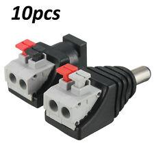 10pcs maschi femmine connettore DC linea primavera premendo Spina LED Strisce / CCTV 5.5 X2.1