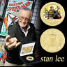 WR Marvel's Father Stan Lee Gold Foil Coin Collectible Gift Fans Gift with Case
