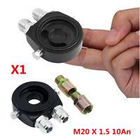 10AN Oil Filter Sandwich Plate Adapter 1/8 NPT Oil Cooler Kit M20 x 1.5 Black