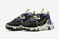 Nike React Vision Running Shoes Black White Purple CD4373-002 Multiple Sizes