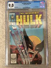 Hulk 340 CGC 9.0. White pages Hulk vs wolverine McFarlane cover