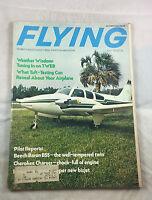 Beech Baron B55 July 1973    Flying Magazine Airplane Aviation