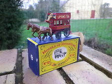 LESNEY-MATCHBOX YESTERYEAR Y-12 LONDON Horse Drawn Bus 1ere version neuve boite