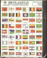 208 Flags of the World - Gummed Stamp Seals - $1.79  **NEW!** Cinderella stamps
