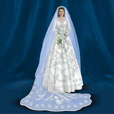 Queen Elizabeth Bride Royal Figurine  Bradford Exchange Figurine