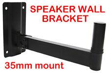 Heavy Duty Adjustable Black Wall PA Speaker Stand Bracket Mount for Top Hat 35mm