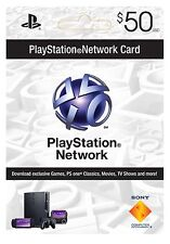 $50 Playstation Network Card for PSN PSP PS3 PS4 *NEW*