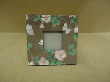 Designer Picture Frame Brown/Pink/Green Fits 3in x 3in Square Wood Glass