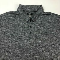 Alfani Polo Shirt Men's Size 2XL XXL Short Sleeve Gray Heather Casual Stretch