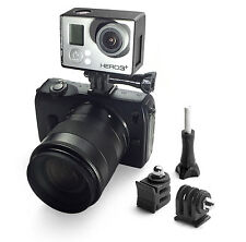 DSLR Soporte Adaptador Monte para GoPro Go Pro HD HERO 1,2,3,3+ Pie Flash