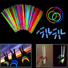 8 Inch Glow Stick Bracelets - 100 Pack in Assorted Colors With 100 Connectors