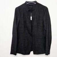 BANANA REPUBLIC Long and Lean Blazer NWT Black Textured Size 6
