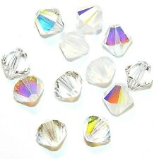 SCB6519 Frost Mix Clear AB Opal Moonlight 8mm Bicone Swarovski Crystal Bead 12pc
