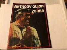 ZORBA Rare Broadway PROGRAM 1980's - ANTHONY QUINN & LILA KEDROVA!