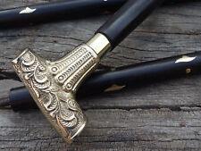 Handmade Brass Solid ball Handle Walking Stick~Vintage Wooden Walking Cane/STICK