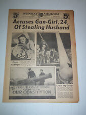 1942 NEW YORK SUNDAY MIRROR 16 Page Section FBI G-MAN & ENEMY ALIEN at The MET