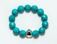 Simon Sebbag FACETED TURQUOISE Sterling Silver Bead bracelet B107/FTQ