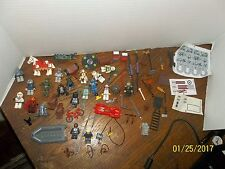 LOT OF LEGO STAR WARS MIDEVIL MINI FIGURES PARTS ACCESSORIES WEAPONS ANIMALS