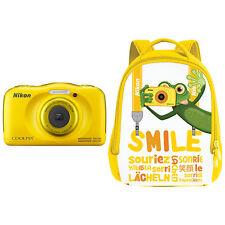 Nikon Coolpix W100 Waterproof Digital Camera 13.2MP HD 1080P Yellow (ML1813)