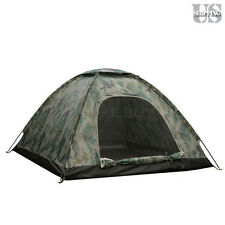 3-4 Person Outdoor C&ing Waterproof 4 Season Family Tent Camouflage Hiking US  sc 1 st  eBay : canvas tents ebay - memphite.com