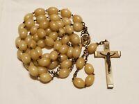 "Vintage Religious Catholic plastic Rosary Beads - 30-1/2"" - Italy"