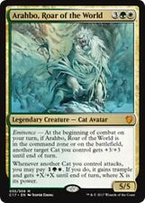 ARAHBO, ROAR OF THE WORLD Commander 2017 MTG Gold Creature — Cat Avatar Mythic