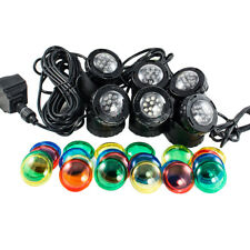 SUBMERSIBLE 6 LED POND LIGHT SET FOR UNDERWATER FOUNTAIN FISH POND WATER GARDEN