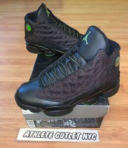 Nike Air Jordan Retro 13 Black Altitude Green Men's Size 8.5 Sneakers 414571-042
