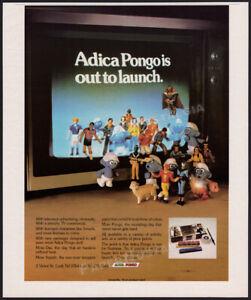 ADICA PONGO__Original 1982 Trade print AD / modeling clay promo__SMURFS__DAS