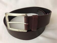 Tumi Cordovan Red Leather Dress Belt Golf Casual Silver Buckle 44 46 XL XXL 110