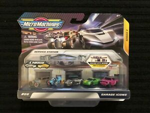 MICRO MACHINES 2020 GARAGE ICONS SERIES 2 RAT ROD,CYCLE,RECLUSE,QUETZAL & MORAB
