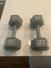 25 lbs dumbells pair