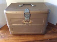 RARE Vintage Hemp & Co. Little Brown Chest Antique Cooler Ice Box w/pick + tray