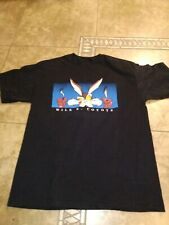 Vtg Warner Bros Looney Tunes Coyote Tshirt L Men Movie Cartoons 90S