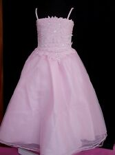 New Pink Flower Girl Party Dress 3-4 Years