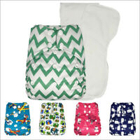 Baby Pocket Cloth Diaper with 2 Microfiber Inserts One Size