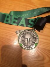 New 2019 Spartan Race Spartan Beast Finishers Medal with Trifecta Wedge